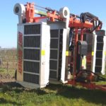 Postřikovač vinohrad recyklační friuli drift recovery